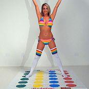 Nikki Sims Rainbow Bikini And Twister Fun HD Video