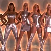 Spice Girls Sexy Silver PVC Outfits Video