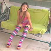 Emily Cute Teen Babe In Pink Striptease HD Video