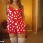 Summer Time With Blueyedcass Sexy Red Polka Dot Dress Camshow Video