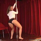 MeganQT Sexy Poledance Striptease Show Video