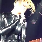Rihanna Sexy Shiny Black Latex Outfit Live On Tour Video
