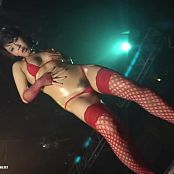 Hot Oiled Asian Babe In Red Lingerie And Fishnets Rave Dance Video
