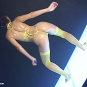 Sexy Asian Babe Oiled Up Dancing To Techno Music Video