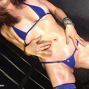 Chubby Asian Bitch Oiled Up Bikini Dance Video