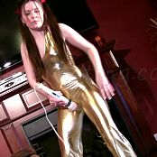 Megan Sexy In Shiny Latex Catsuit Fetish Masturbation HD Video
