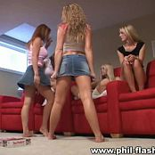 Tiffany, Nikki, Megan, Cassandra, Seanna Teen Ass Show Video
