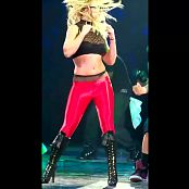 Britney Spears Red Spandex Cut Out Dance Routine Video