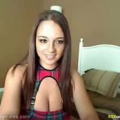 Nikki Sims Cute Schoolgirl Outfit Strip Classic Camshow Video