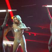 Britney Spears Live In Las Vegas Skin Tight Sparkling Catsuit HD Video