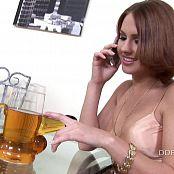 Kinky Brunette Pissing In A Glass HD Video