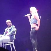 Britney Spears Skin Tight Black Leather Pants Circus Tour HD Video