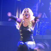 布兰妮·斯皮尔斯(Britney Spears)性感的黑色乳胶紧身连衣裤POM巡演高清视频
