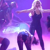 Britney Spears Live Wearing Black Latex Catsuit May 7 2014 HD Video