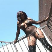 Jada Fire Gorgeous Black Babe Fishnet And Boots HD Video