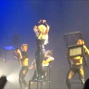 Britney Spears Live Las Vegas Sexy Wet Black Latex Catsuit HD Video