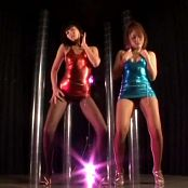 Shiny Latex Outfits With Pantyhose Striptease Dance Video