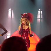 Kylie Minogue Wow Red Latex Dress Live HD Video