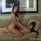 KTso Lesbian Photoshoot Shiny Golden Thong HD Video