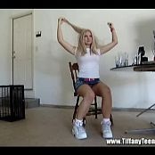 Tiffany Teen Garage String Schoolgirl Tease Video