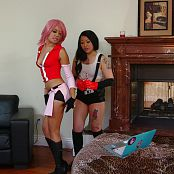 Annie Cruz And London Lanchester Sakura And Tifa Cosplay HD Video