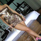 KTso Skin Tight Golden Dress Tease HD Video