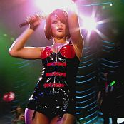 Rihanna Live On Tour Black & Red Latex Corset Part HD Video