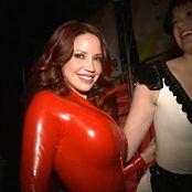 Bianca Beauchamp Red Latex Catsuit Video