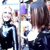 Bianca Beauchamp With Friends Latex Catsuits In Public Video