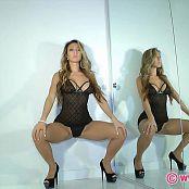KTso Gorgeous Babe In Black N Blue Ribbon Lingerie HD Video