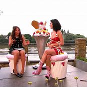 Katy Perry Shiny Red Polka Latex Dress Interview HD Video