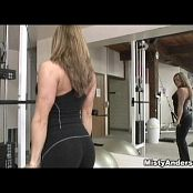 Misty Anderson Nice Spandex Workout Pants Video