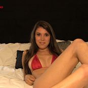 Brittany Marie Sexy Red Lingerie Jerk Off Instructions HD Video