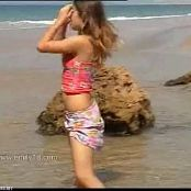 Emily Cute Young Babe At The Beach Video