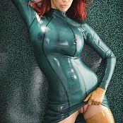 Bianca Beauchamp Green See Through Latex Photo Set