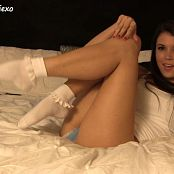 Brittany Marie Ruffle Ankle Socks HD Video