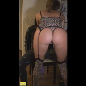 Kalee Carroll Leopard Lingerie And Gold Star Pasties Lapdance Video