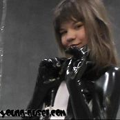 Young Gusel Black Latex Catsuit Fetish Video