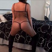 Kalee Carroll Sexy Fishnet Bodysuit & Silver Pasties HD Video