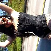 Julia Bond Corset & Fishnets Public Traffic Danger Video