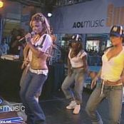 Christina Milian Dip It Low Live AOL Music 2002 Video
