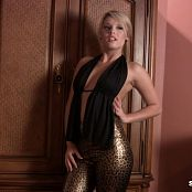 Sherri Chanel Sexy Shiny Leopard Pants HD Video