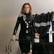 Natalia Forrest Shiny Black Latex Dress Dominatrix HD Video