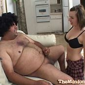 Lexi Belle Gives Fat Guy Blowjob Swallows His Load Video