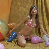 Young Gusel Pink Bikini And Balloons HD Video