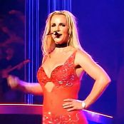 Britney Spears Freakshow Red Sparkling Outfit HD Video