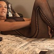 Christina Model Black Fishnet Bodysuit Naked In Bed HD Video