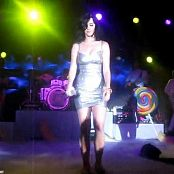 Katy Perry Silver Latex Dress Boobs Jiggle Video