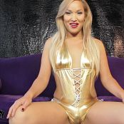 Khloe Hart Is Shiny Golden Solo Masturbation HD Video