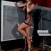 Nikki Sims Black Mesh Dress Picture Set